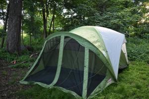 子供達が張ったテント